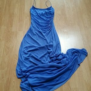 Pretty blue long formal